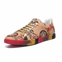 Versace Fashion Casual Running Sport Shoes Multi Gold Sneakers  - Best Deal Online