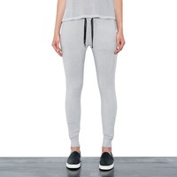 Womens Linen Mist Venus Fitted Drawstring Pants By One Grey Day