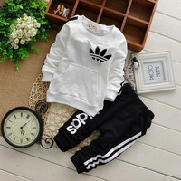 Toddler Boys & Girls Active Child Tracksuit Letter Children Clothing Sets Fall Winter Outfits Garment