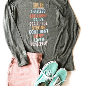 Jadelynn Brooke: Girls Support Girls Tee {Grey Heather}