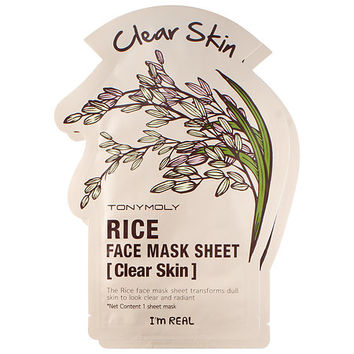 Tony Moly I'm Real - Rice Face Mask Sheet - Clear Skin (2 pack)