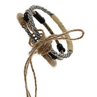 Hessian Engraved Bangle Set - Jewelry  - Accessories