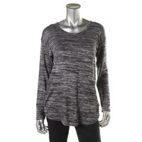 Jones New York Womens Knit Marled Pullover Top