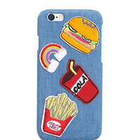 Fast Food Patch Denim iPhone Case   Wet Seal
