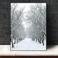 Wall art  Picture poster snow tree art Picture wall painting art  poster canvas painting print Wall Picture home decoration