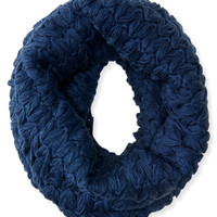 Cabled Funnel Scarf