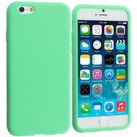 Mint Green Silicone Soft Skin Case Cover for Apple iPhone 6 6S (4.7)