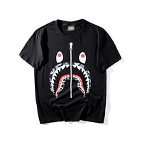BAPE Men Fashion Casual Pattern Print T-shirt.