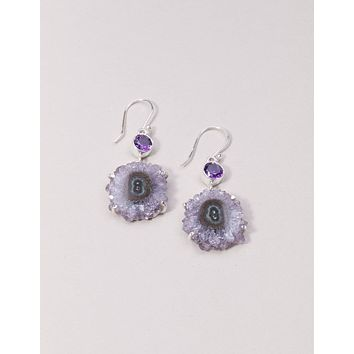 Amethyst Stalactite Earrings - One Of A Kind