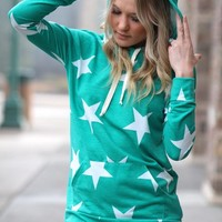 I'm A Star Hooded Sweater (Jade)