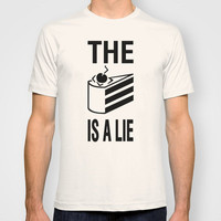Portal Cake T-shirt by Yiannis Telemachou