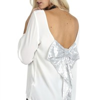 Sequin Bow Blouse