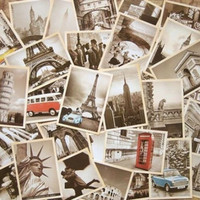 32Pcs Vintage Retro Old Travel World Cities Postcards Travel Gift Greeting Cards = 1947023492