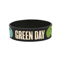Green Day Face Dot Rubber Bracelet | Hot Topic