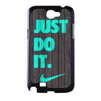 Nike Just Do It Wood Colored Darkwood Wooden Fdl Samsung Galaxy Note 2 Case
