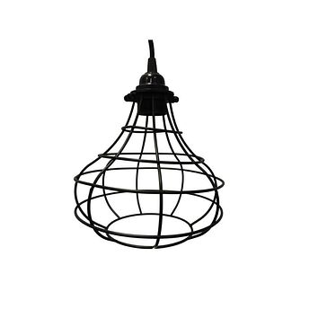 Industrial Cage Vintage Style Lampshade For Pendant Light Lamps, Black