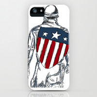 Captain America (Chris Evans) iPhone & iPod Case by Steve Wade