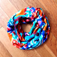 Toddler Abstract Bright Summer Scarf Girls Multicolor Fashion Scarves Toddler Fashion Accessories Toddler Girl Scarf Tube Scarf