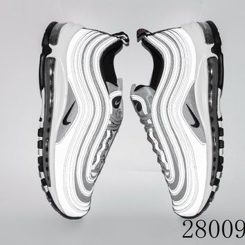 HCXX 19July 1033 Nike Air Max 97 Reflect Silver 312834-007 Flyknit Breathable Running Shoes