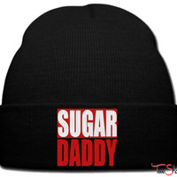 sugar daddy beanie knit hat