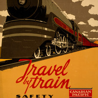 Canadian Pacific Raliway Lines Vintage Travel Poster