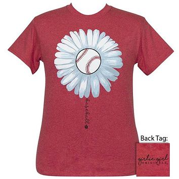 Girlie Girl Originals Preppy Baseball Daisy T-Shirt