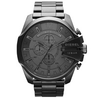 Diesel - Men's Black Ion-Plated Stainless Steel Chronograph Watch DZ4282