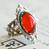 Vampire Royalty Ring  VIctorian Goth Vintage by blackpersimmons