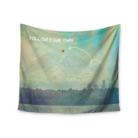 """Robin Dickinson """"Follow Your Own Arrow"""" City Landscape Wall Tapestry"""