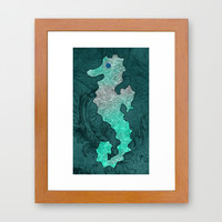 SEAHORSE Framed Art Print by catspaws