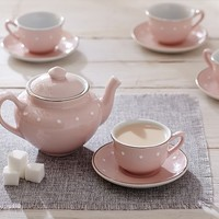 Pink Ceramic Classic Tea Set | Pottery Barn Kids