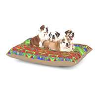 """Anne LaBrie """"Mystic Flow"""" Green Red Dog Bed"""