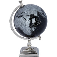 Silver Tone Globe 20cm - Gifts for the Gentleman - Christmas Gifts - Christmas - TK Maxx
