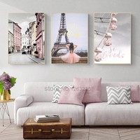 Paris Tower Nordic Poster Love Wall Art Canvas Painting Quadro Wall Pictures For Living Room Picture Cuadros Decoracion Unframed