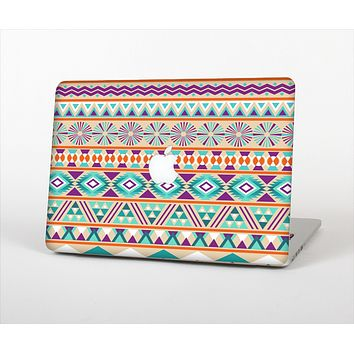 The Tan & Teal Aztec Pattern V4 Skin Set for the Apple MacBook Air 13""