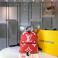 Kuyou Gb2981 Louis Vuitton Lv M41560 Monogram Red Handbags Monogram Bags Palm Springs Backpack 21*31*10cm