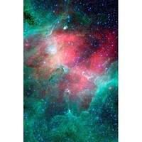 (11x17) Cosmic Epic Unfolds Eagle Nebula in Infrared Space Photo Art Poster Print