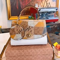 Coach 2020 new product retro postman bun and mother bag two-piece set