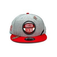New Era 9FIFTY Houston Rockets Draft Snapback Hat Gray Red