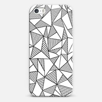 Abstraction Lines Black on White iPhone 5s case by Project M | Casetify