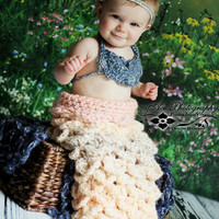 The EPIC Mermaid tail. Custom Shell Mermaid tail, headband, accesories and top. INFANT SIZE