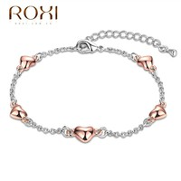 ROXI Brand Bracelet For Women Two - color Bracelet Love Chain Fashion Jewelry Ketting Chains Ladies For Wedding Vacation Gift