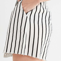 UO Wrap Front Striped Mini Skirt | Urban Outfitters