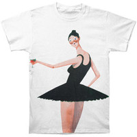 Kanye West Men's  Ballerina T-shirt White Rockabilia