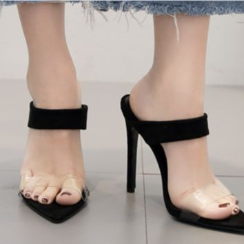 Hot style hot selling sexy film patchwork stilettos