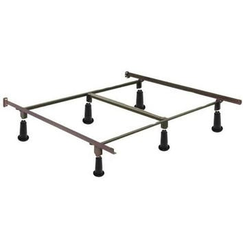 King Size High Rise Metal Bed Frame with Headboard & Footboard Brackets