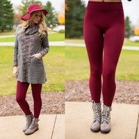 The Perfect Leggings in Burgundy