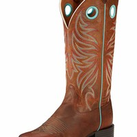 """Women's Ariat 13"""" Round Up Ryder Square Toe Boots - Sassy Brown"""