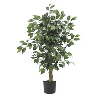 SheilaShrubs.com: 3' Ficus Silk Tree 5298 by Nearly Natural : Artificial Flowers & Plants