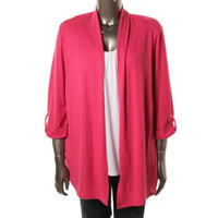 NY Collection Womens Plus Colorblock 2Fer Pullover Top
